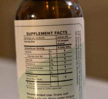 japa organics 500 MG CBD Tincture Supplement Facts